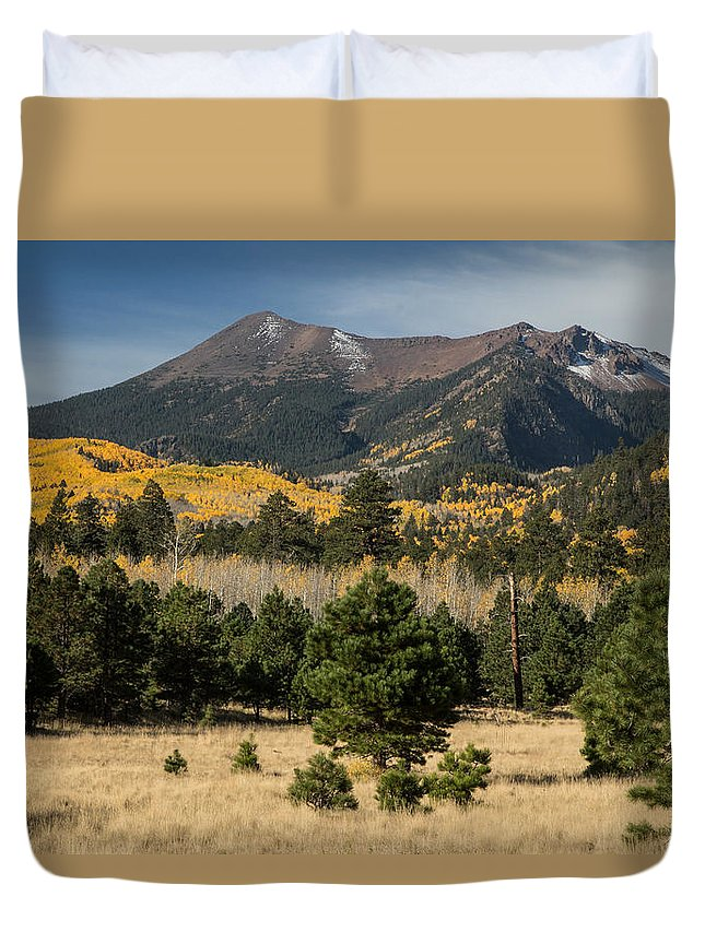 Fall Duvet Cover featuring the photograph Lockett Meadow Autumn by Susan Westervelt
