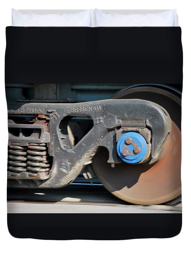 Train Duvet Cover featuring the photograph Locomotion by Donna Shahan