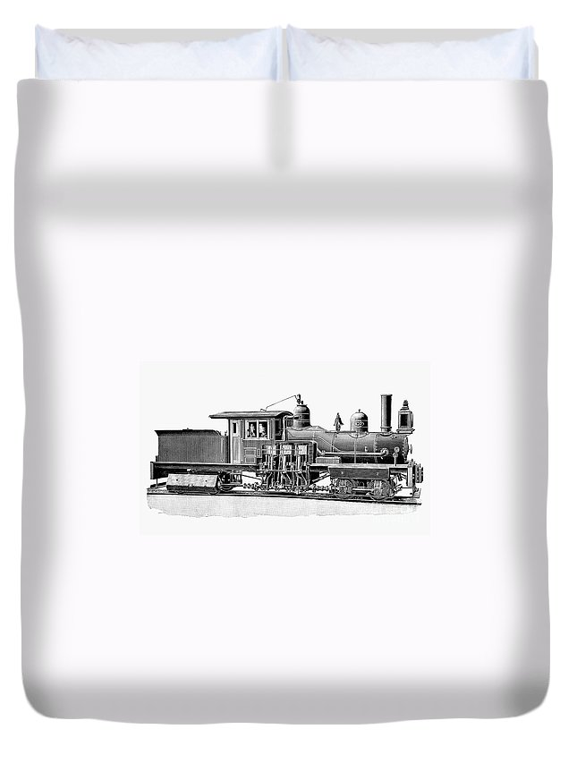 1893 Duvet Cover featuring the photograph Locomotive, 1893 by Granger