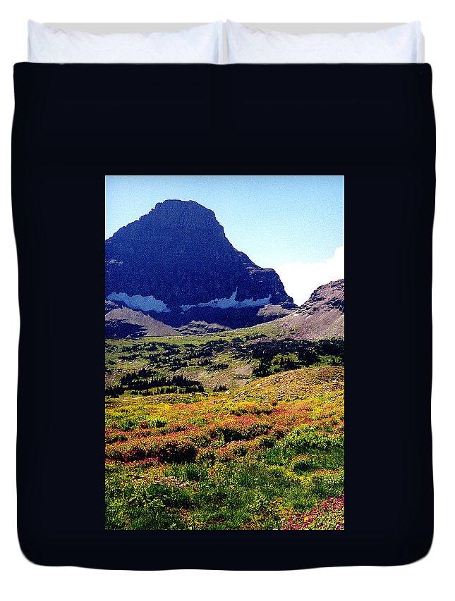 Glacier National Park Duvet Cover featuring the photograph Logans Pass In Glacier National Park by Nancy Mueller