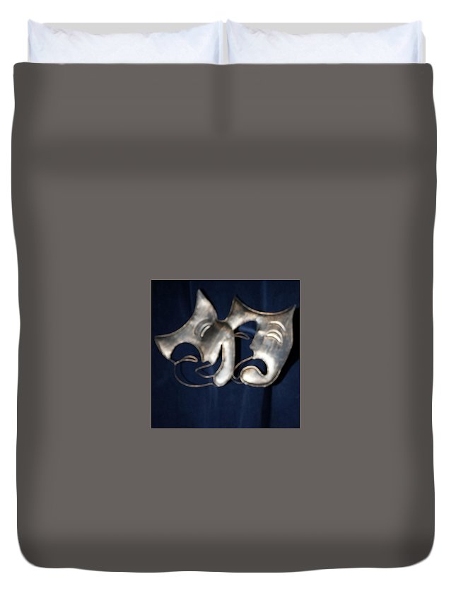 Logo Duvet Cover featuring the photograph Logo for Theater Productions by Alan D Smith