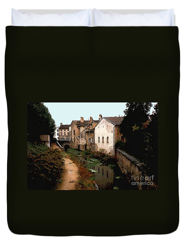 France Duvet Cover featuring the photograph Loire Valley Village Scene by Nancy Mueller