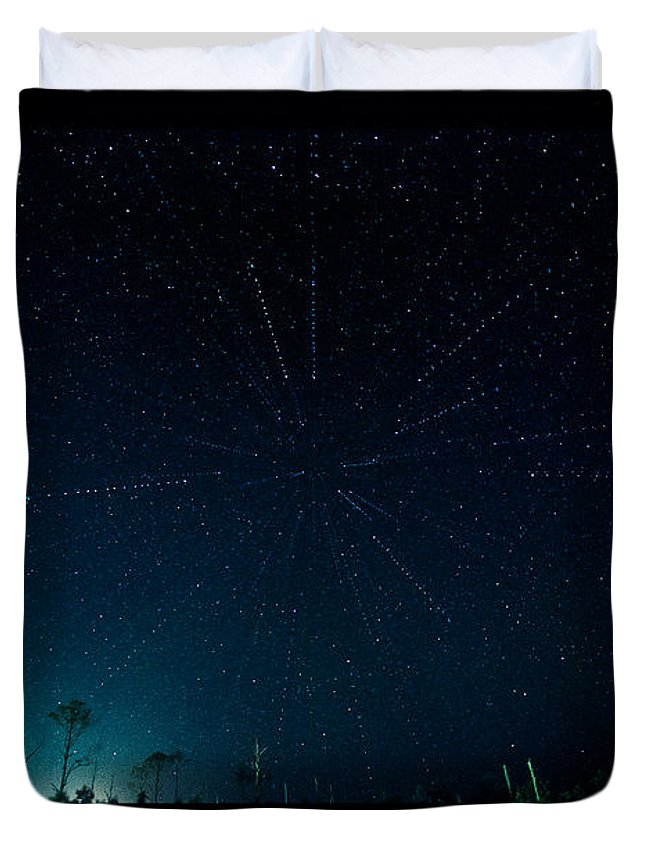 Stars Duvet Cover featuring the photograph Loki's Playground by Paula OMalley