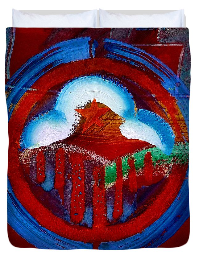 Star Duvet Cover featuring the painting Lone Star State by Charles Stuart