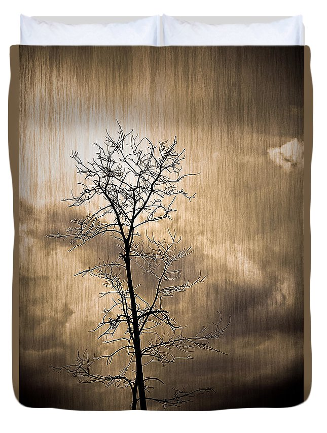 Charuhas Duvet Cover featuring the photograph Lone Survivor by Charuhas Images