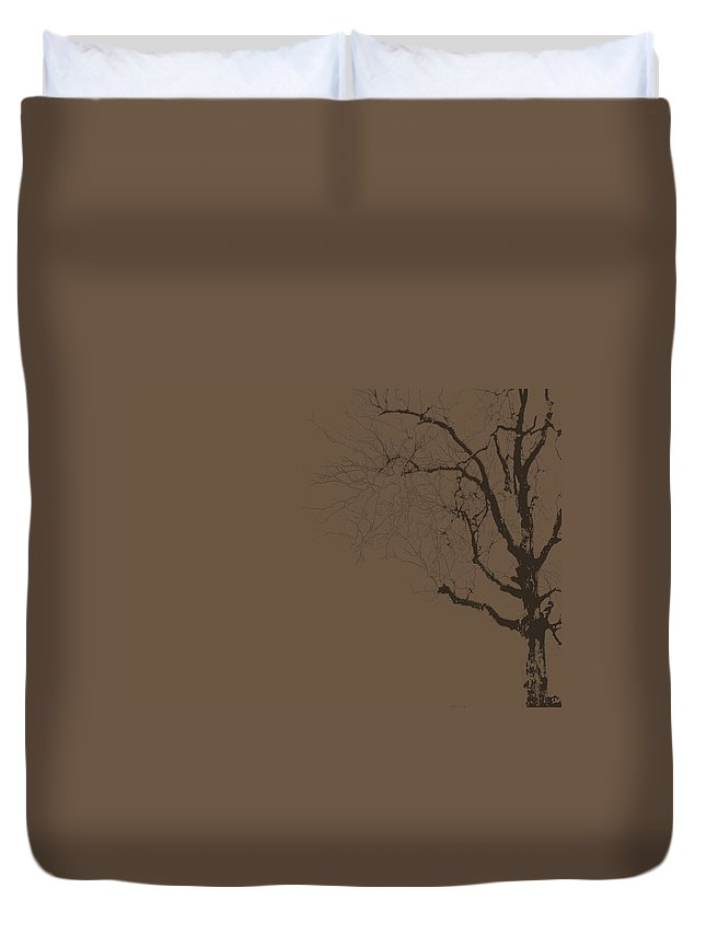 Tree Duvet Cover featuring the photograph Loneliness by Ed Smith