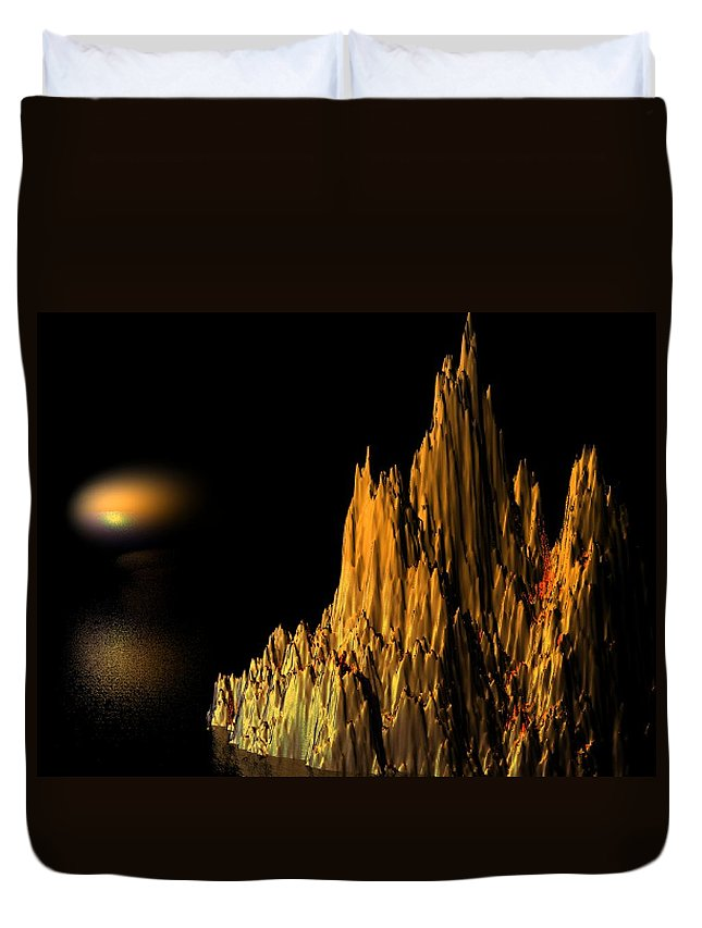 Surreal Duvet Cover featuring the digital art Loneliness by Oscar Basurto Carbonell