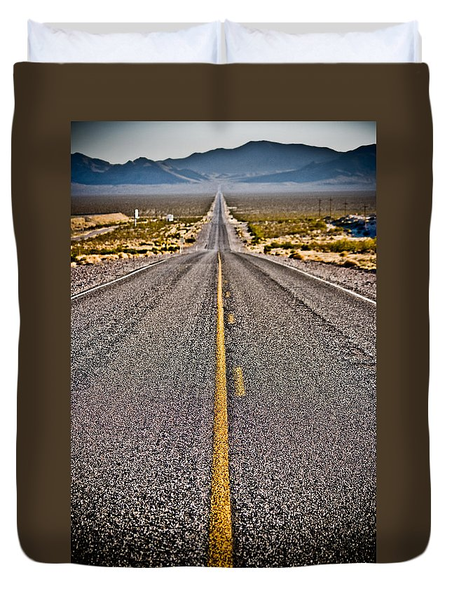 Nature Duvet Cover featuring the photograph Lonely Road #2 by Robert J Caputo