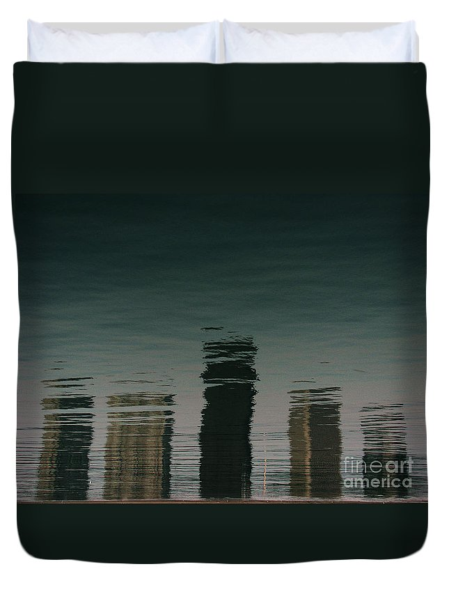 Lake Duvet Cover featuring the photograph Lonely Soul by Dana DiPasquale