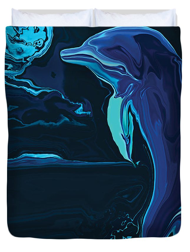 Animal Duvet Cover featuring the digital art Lonely Tonight by Rabi Khan