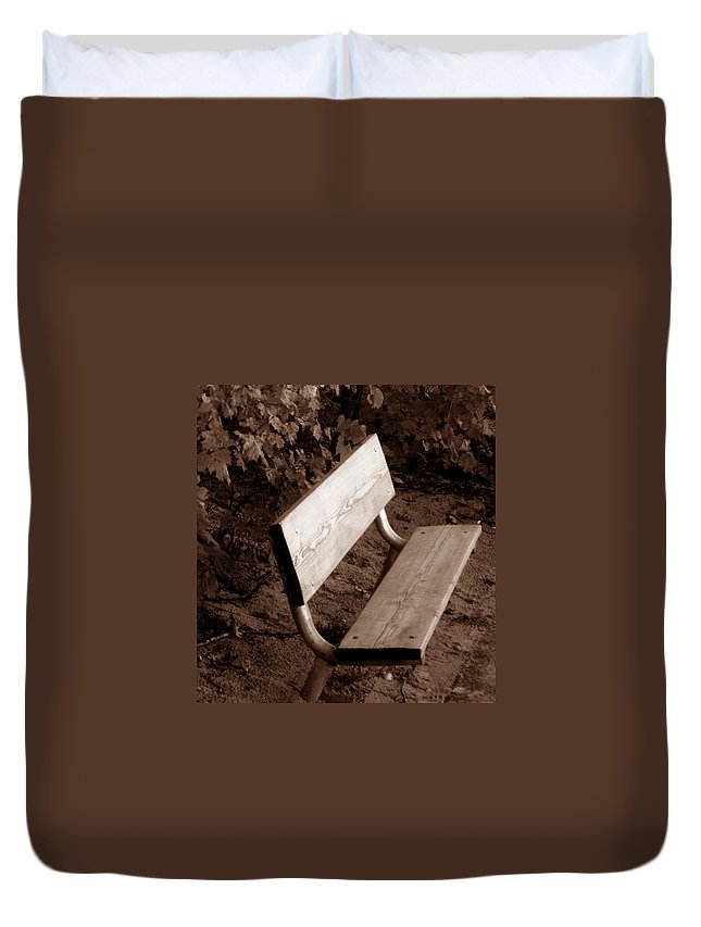 Lonliness Duvet Cover featuring the photograph Lonely by Wayne Potrafka