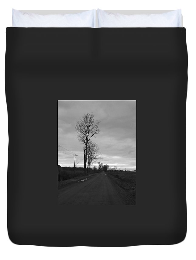 Duvet Cover featuring the photograph Lonesome by William Kriekaard