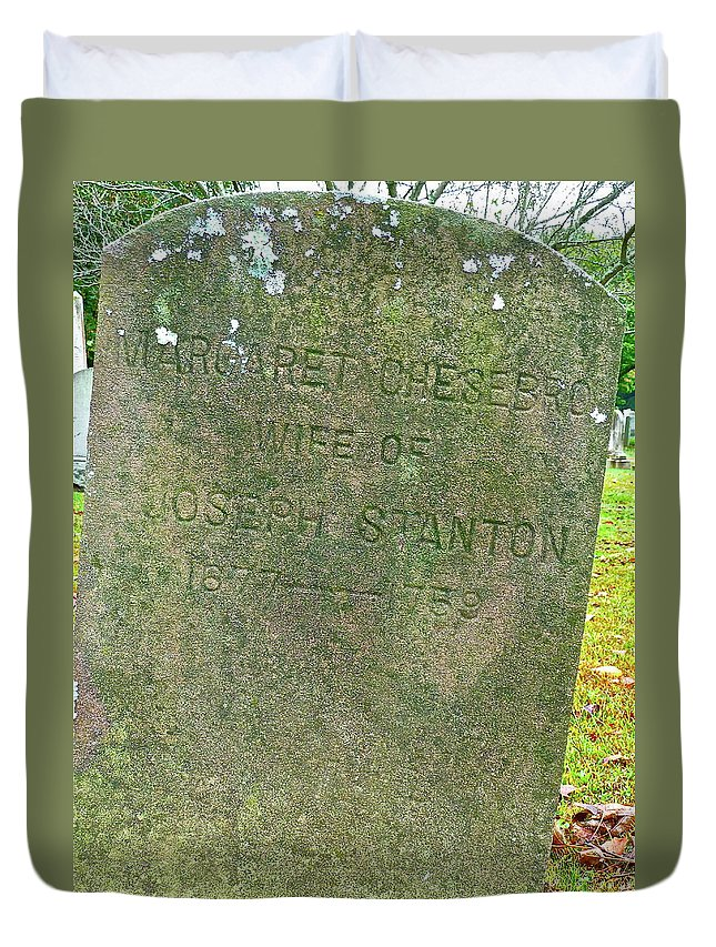 Cemetery Duvet Cover featuring the photograph Long Ago by Diana Hatcher