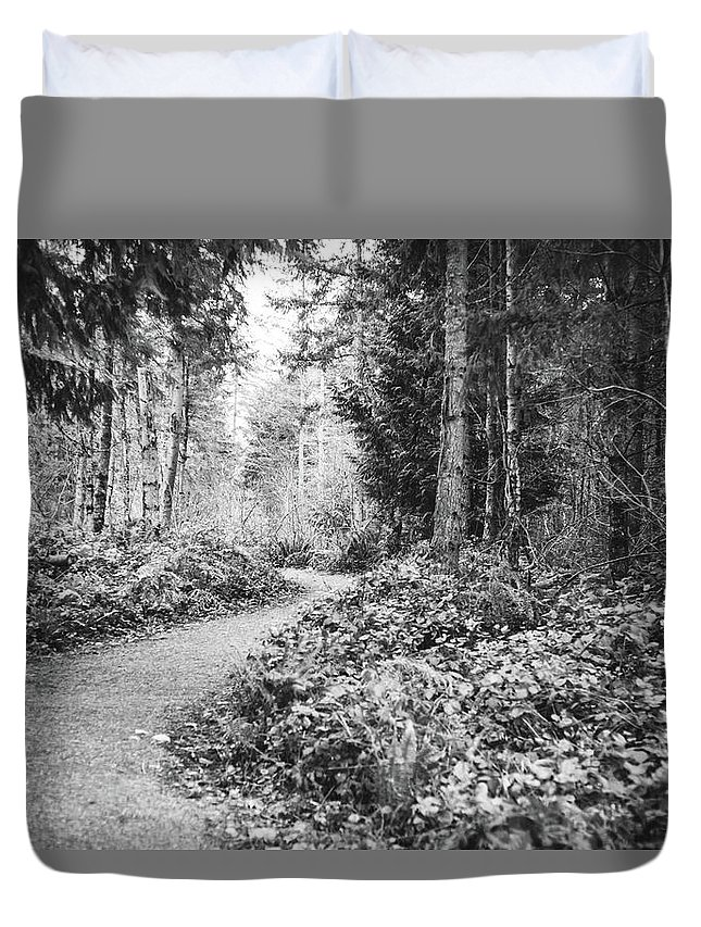 Path Duvet Cover featuring the photograph Long And Winding Path by Cathrine McBride
