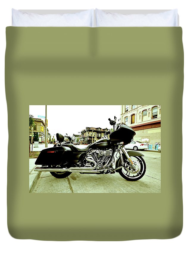 Duvet Cover featuring the photograph Long Pipes by Angel Moran