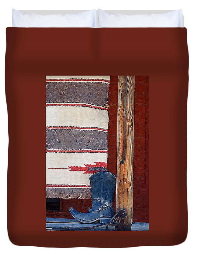 Boots Duvet Cover featuring the photograph Long Way Home by Donna Bentley