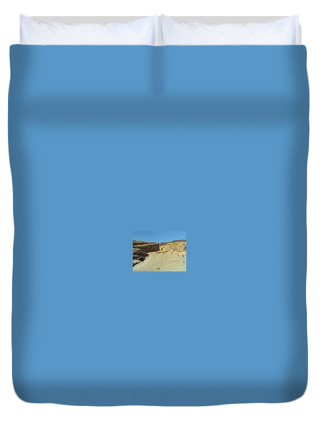 Duvet Cover featuring the photograph Long Way by Manoj John