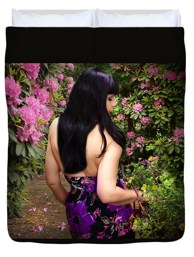 Art Duvet Cover featuring the photograph Longing For Springtime Gardens by Dorothy Lee