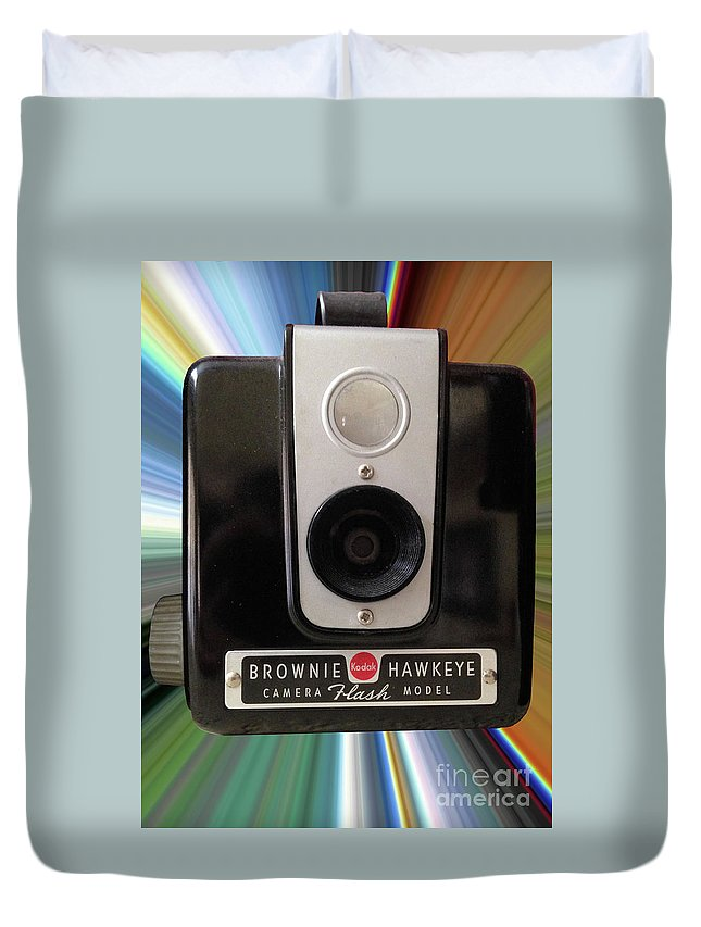 Brownie Duvet Cover featuring the photograph Look At The Camera by Steven Parker