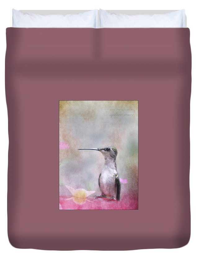 Hummingbird Duvet Cover featuring the photograph Looking Ahead by Sydnee Crain