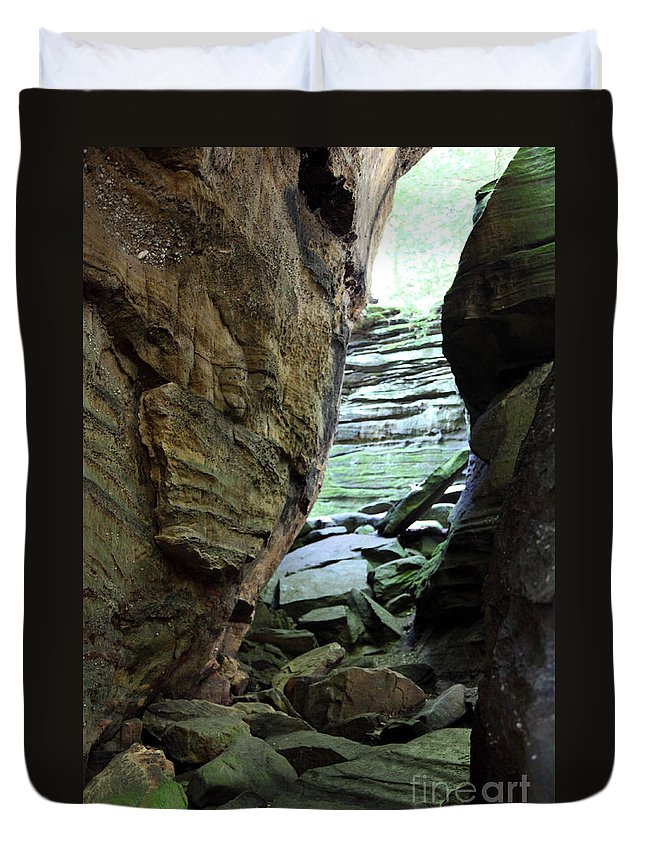 Faces Duvet Cover featuring the photograph Looking Glass by Amanda Barcon