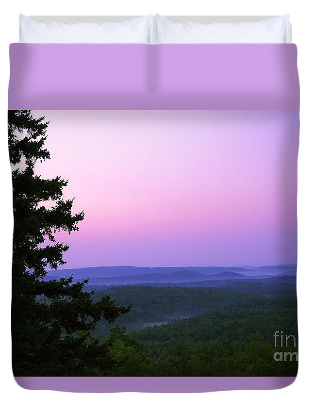 Art Duvet Cover featuring the photograph Looking Out Looking Over by Joe Geraci