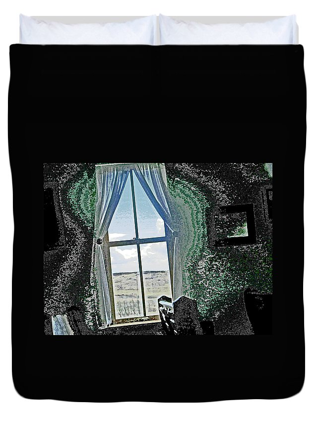 Abstract Duvet Cover featuring the photograph Looking Through To The Other Side by Lenore Senior