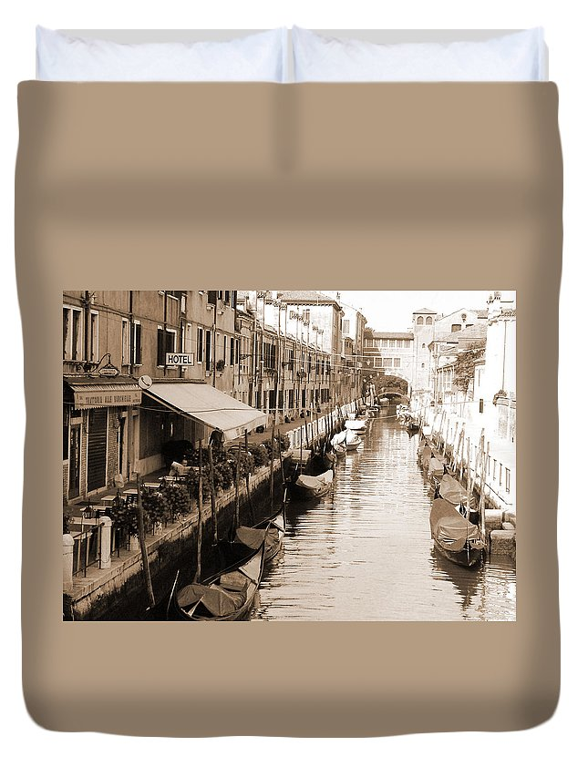 Old Times Duvet Cover featuring the photograph Looks Like Old Times by Donna Corless
