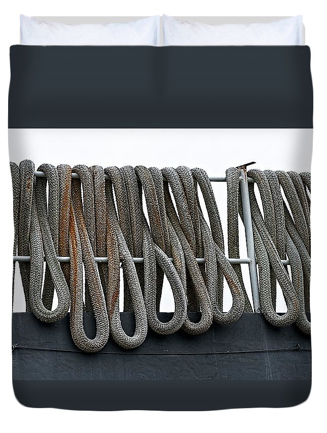 Ship Duvet Cover featuring the photograph Looped by Christopher Holmes
