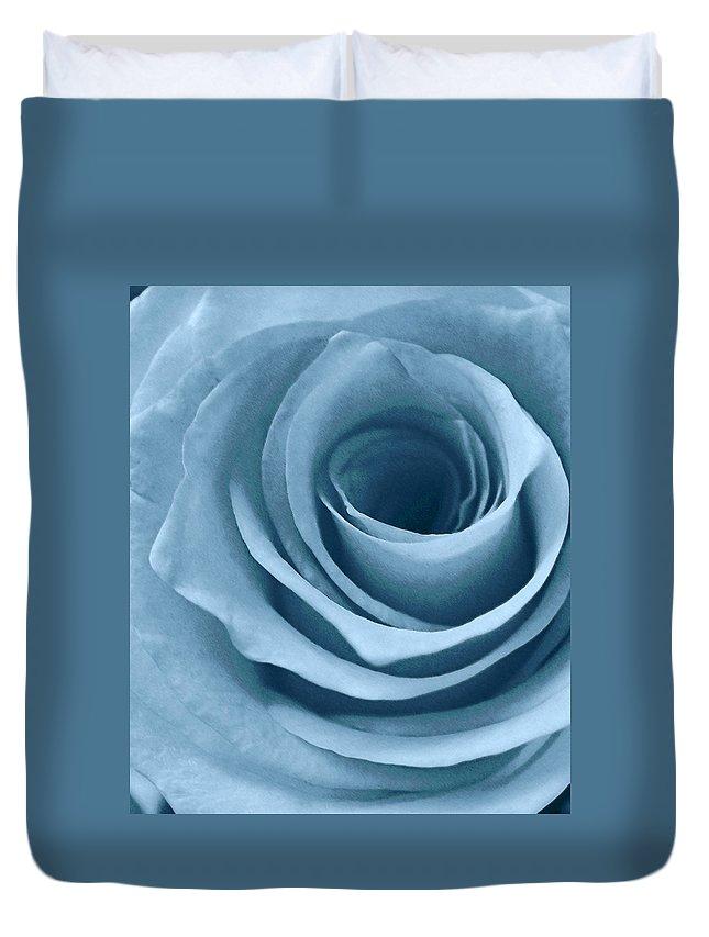 Roses Duvet Cover featuring the photograph Lopez Rose by Francine Stuart