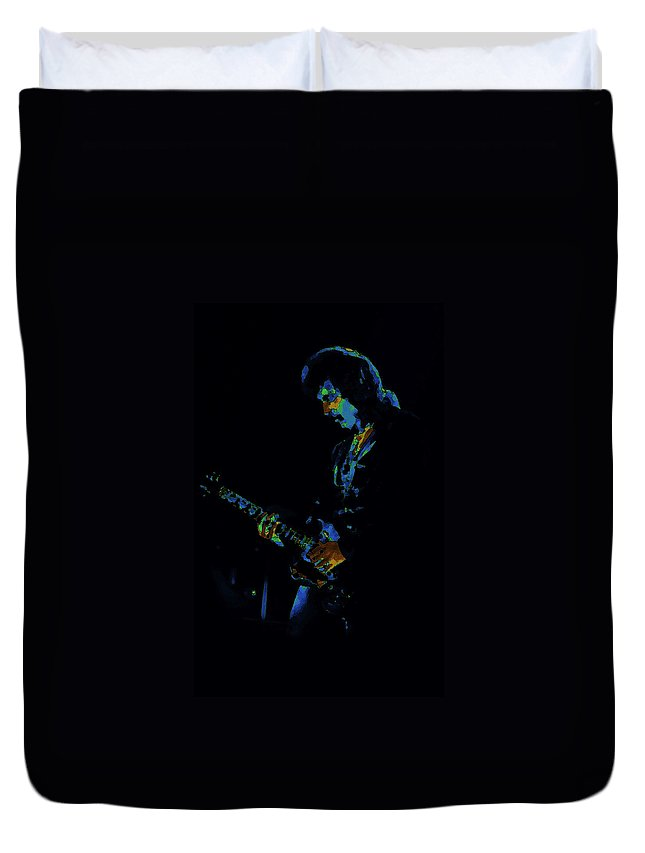 Black Sabbath Duvet Cover featuring the photograph Lord Of The Cosmic Blue World by Ben Upham