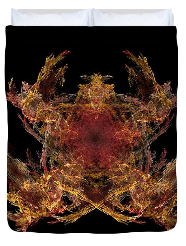 Fantasy Duvet Cover featuring the digital art Lord Of The Flies by David Lane