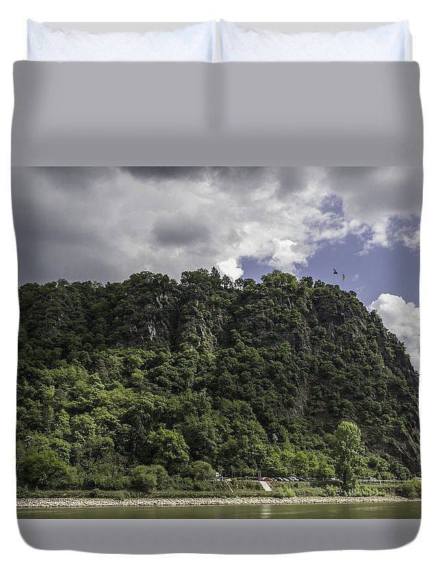 Loreley Duvet Cover featuring the photograph Loreley Rock 09 by Teresa Mucha