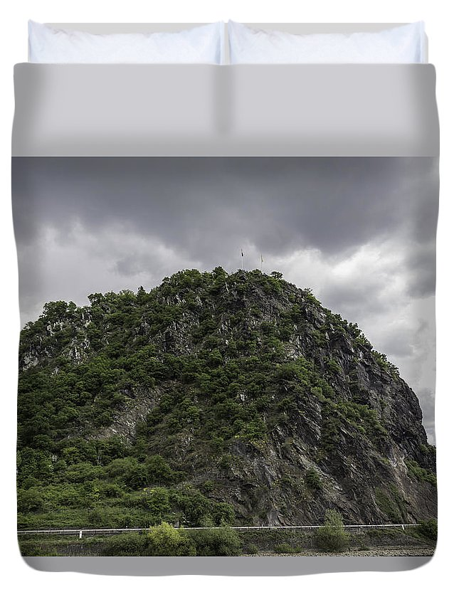 Loreley Duvet Cover featuring the photograph Loreley Rock 12 by Teresa Mucha