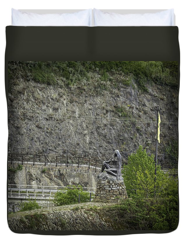 Loreley Duvet Cover featuring the photograph Loreley Squared by Teresa Mucha