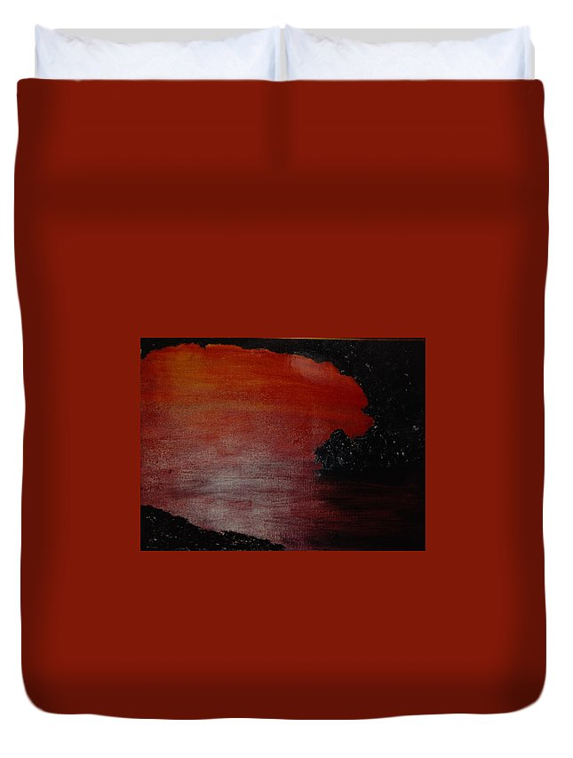 Painting Duvet Cover featuring the photograph Lori's World by Rob Hans