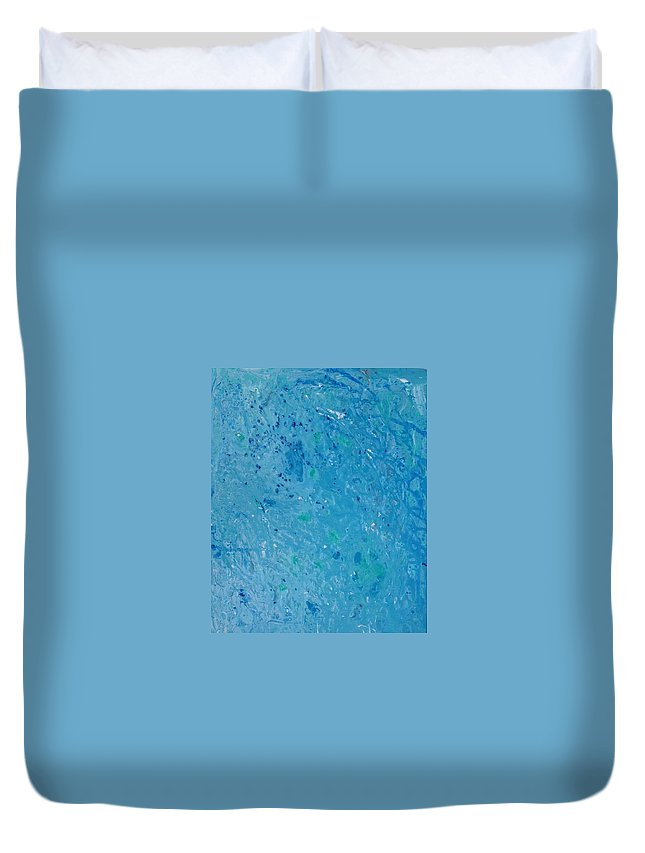 Sea Duvet Cover featuring the painting Lost At Sea by Jennifer Hummel