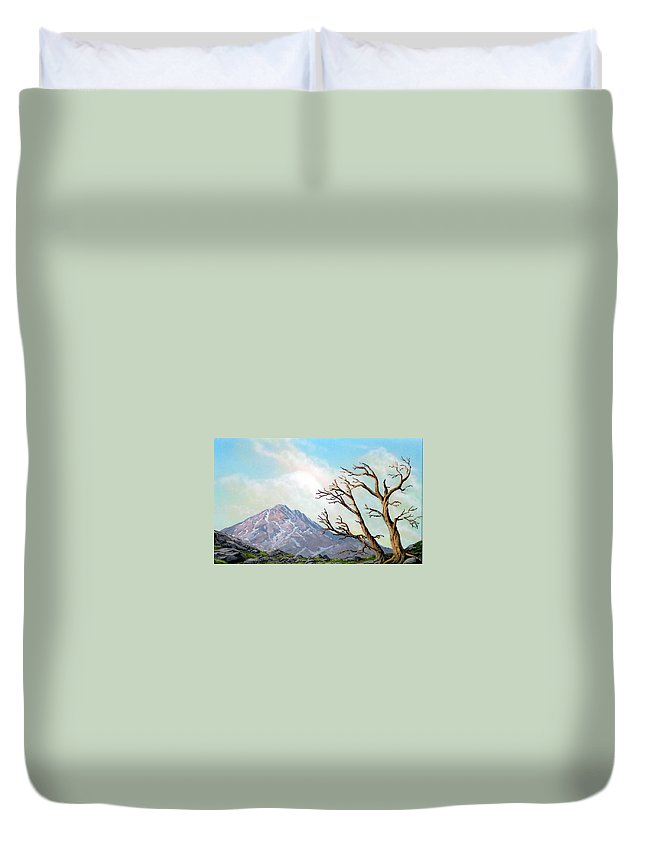 Wildflowers Duvet Cover featuring the painting Lost Battle by Frank Wilson