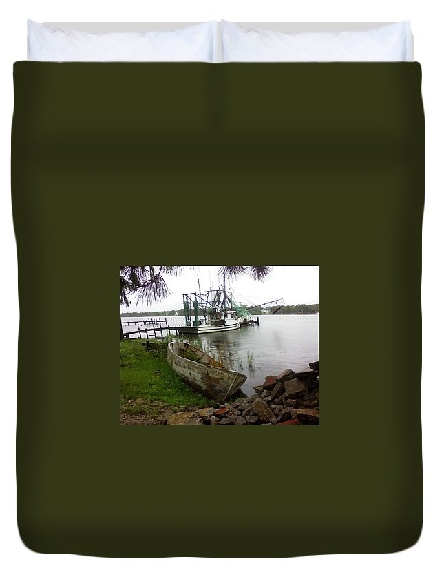Boat Duvet Cover featuring the photograph Lost Boat by Patricia Caldwell