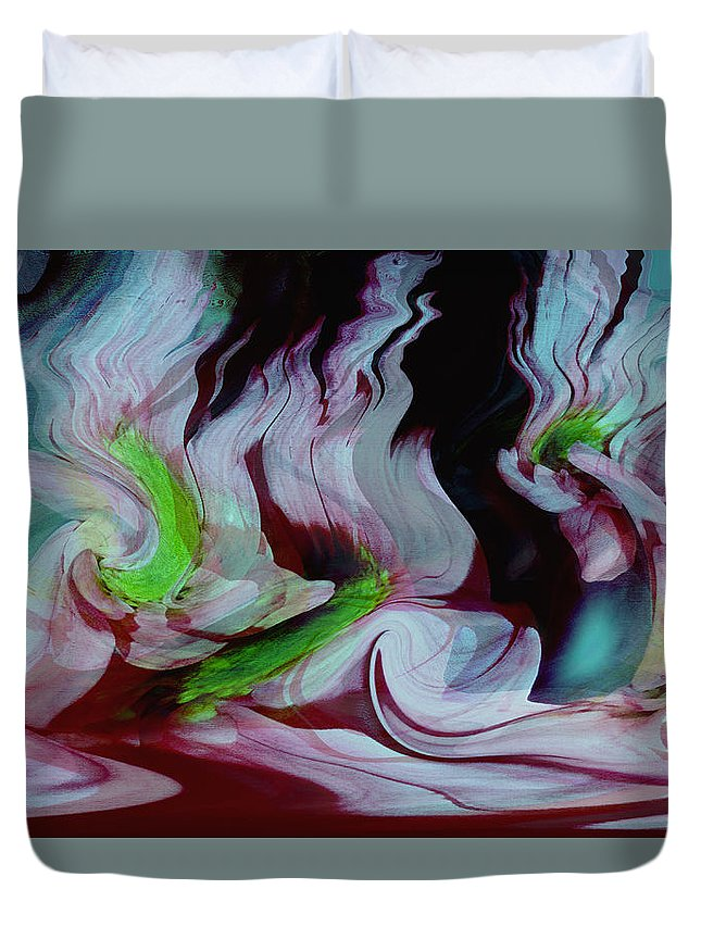 Dream Art Duvet Cover featuring the digital art Lost In A Dream by Linda Sannuti