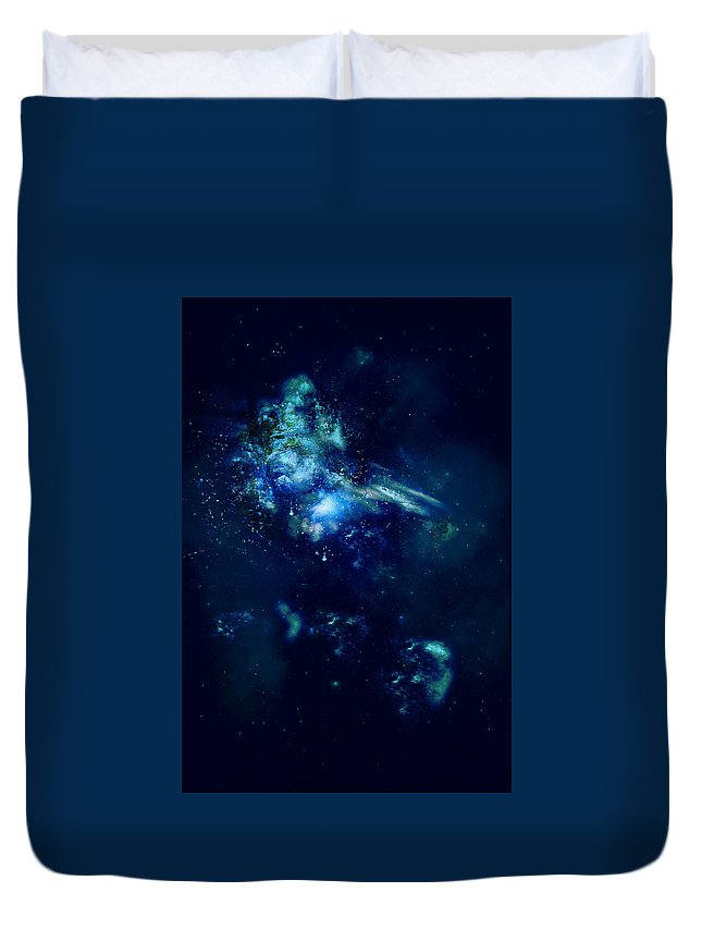 Earth Duvet Cover featuring the digital art Lost In Space by Veronica Riga