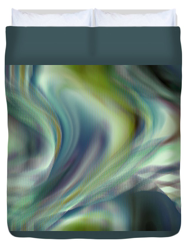 Abstract Duvet Cover featuring the digital art Lost In The Moment by Ruth Palmer