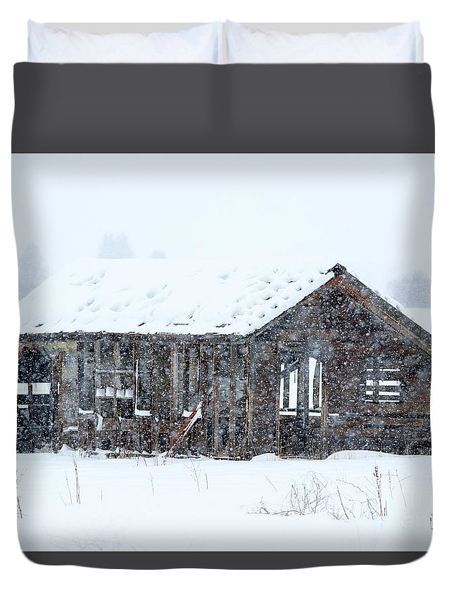 Snow Duvet Cover featuring the photograph Lost in Winter by Mike Dawson