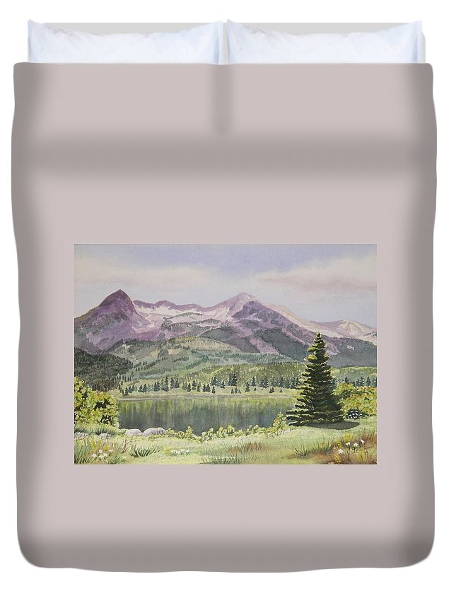 Kebler Pass Duvet Cover featuring the painting Lost Lake Colorado by Dale Jackson