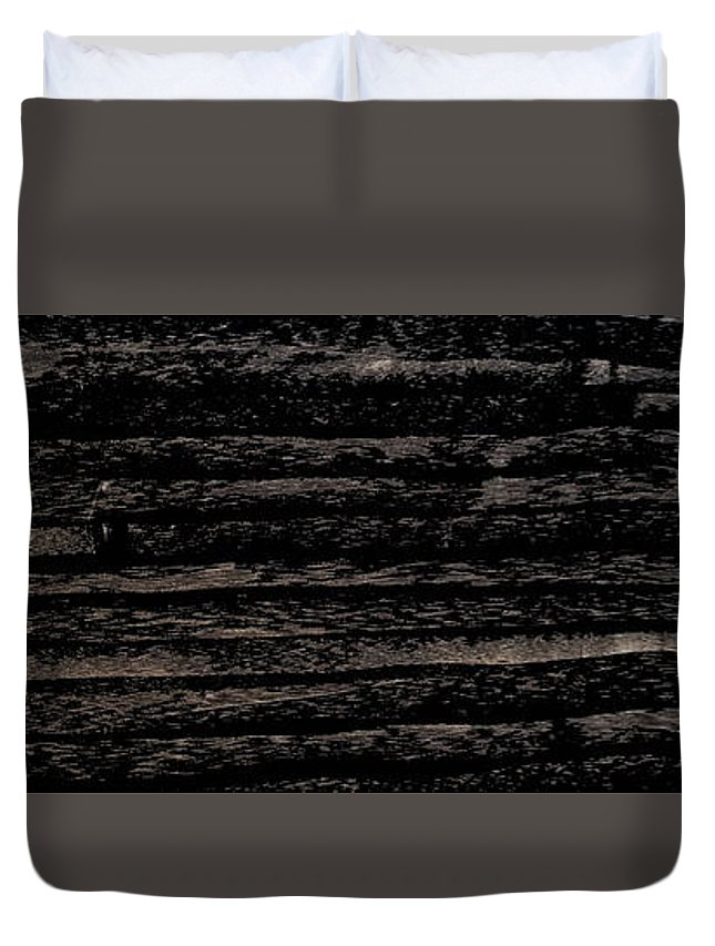 Charcoal Duvet Cover featuring the mixed media Lost by Nour Refaat