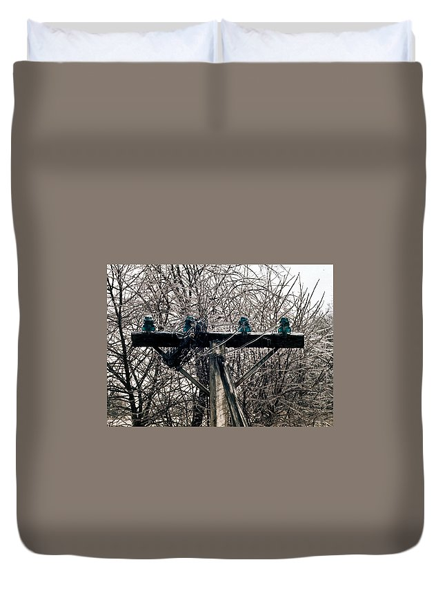 Lost Duvet Cover featuring the photograph Lost Power by Douglas Barnett