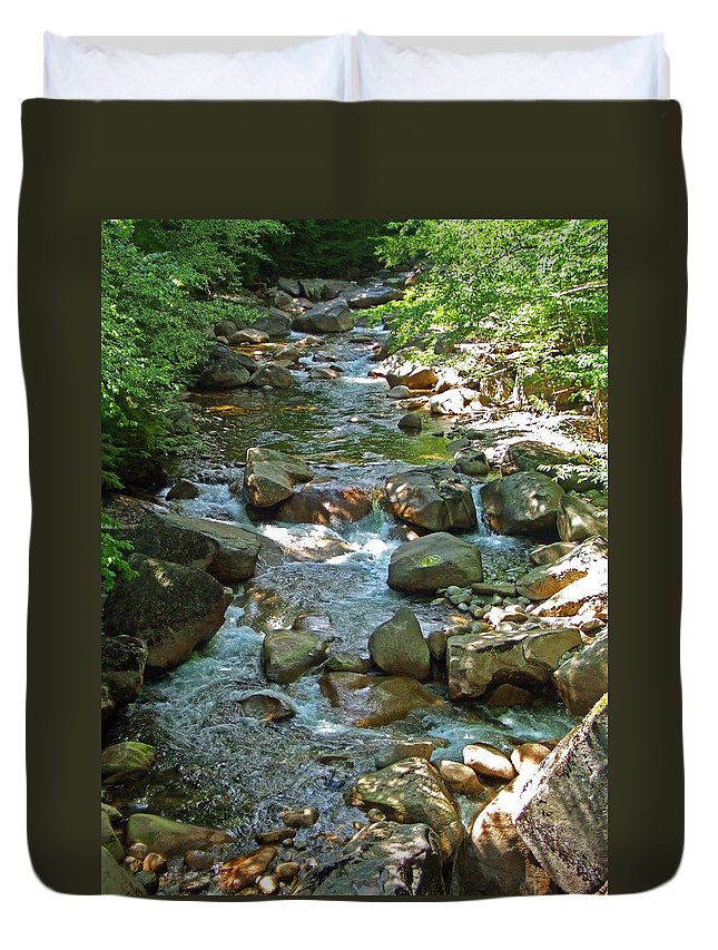 Forest Duvet Cover featuring the photograph Lost River 1 by Mark Sellers