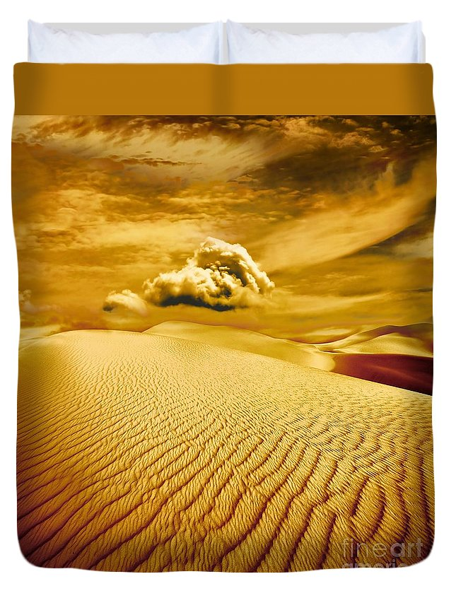 Desert Duvet Cover featuring the photograph Lost Worlds by Jacky Gerritsen