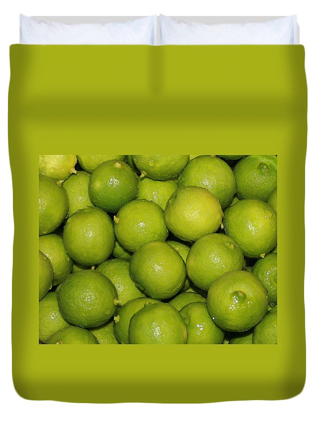 Limes Duvet Cover featuring the photograph Lots Of Limes by Marna Edwards Flavell