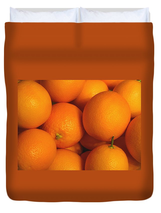 Orange Duvet Cover featuring the photograph Lots Of Oranges by Marna Edwards Flavell
